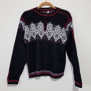 Hanna Andersson M Fair Isle Quarter Zip Sweater